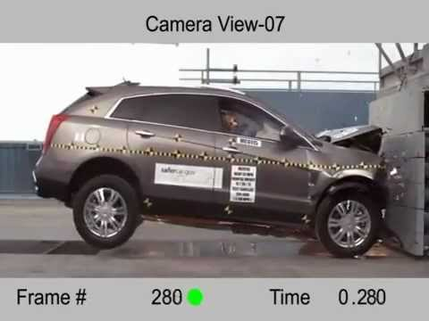CAR CRASH TEST Cadillac SRX (Frontal Impact)