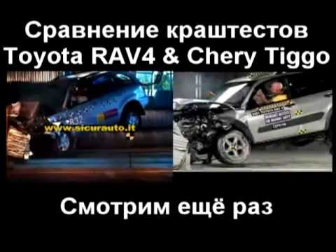 Краш Тест Chery Tiggo (Crash Test Chery Tiggo) vs Краш Тест Toyota RAV 4