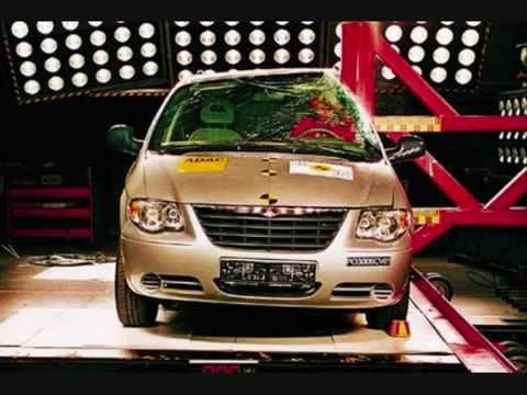 Crash Test Chrysler Grand Voyager side impact (Impolite)