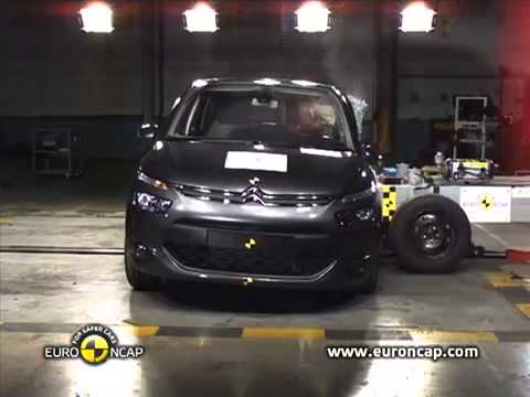 Краш тест Citroen C4 Picasso 2013 Crash test