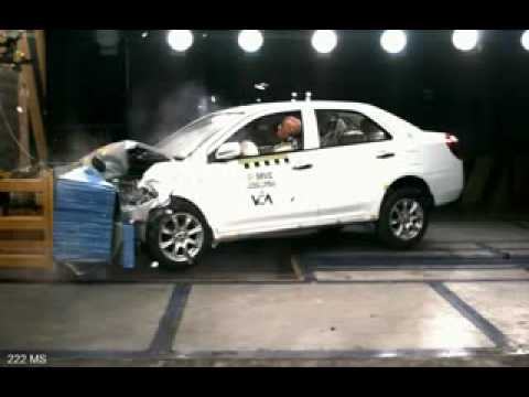 Chinese Car Crash Test: Geely MK (Front)