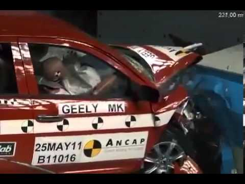 Краш тест Джили МК 2 Crash Test Geely MK 2)